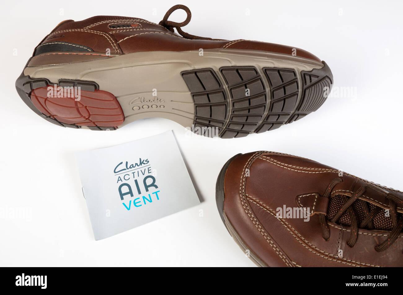 Clarks active air Vent Herren Schuhe mit Luft gepumpt in der