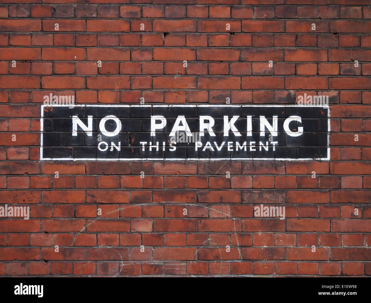 Kein Parkplatz-Schild Stockbild