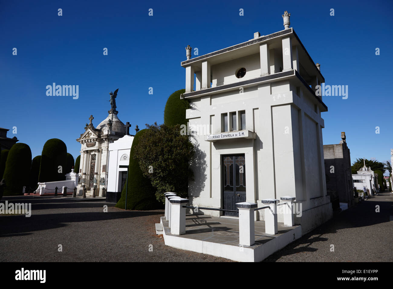 verzierten Mausoleen in der Friedhof von Punta Arenas in Chile Stockbild