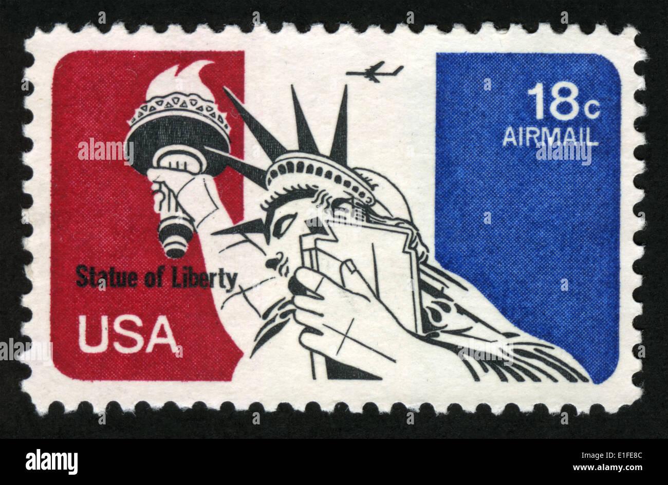 US Briefmarke Statue Of Liberty Stockbild