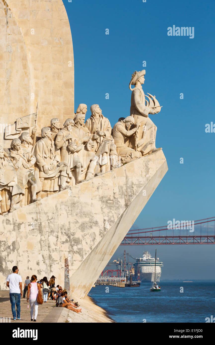 Lissabon, Portugal. Padrão Dos Descobrimentos oder Denkmal der Entdeckungen, Stockbild