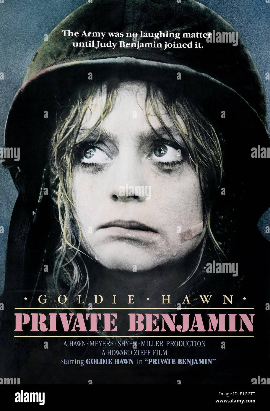 """""""Private Benjamin"""", 1980 US-amerikanische Filmkomödie Darsteller Goldie Hawn. Stockbild"""