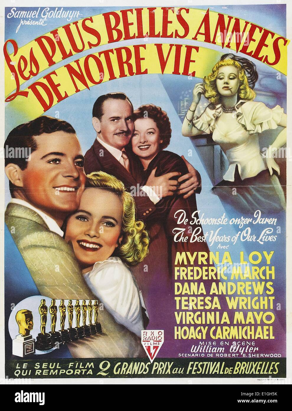 """""""Die besten Jahre unseres Lebens"""" eine 1946 amerikanische Drama film starring Myrna Loy. Stockbild"""