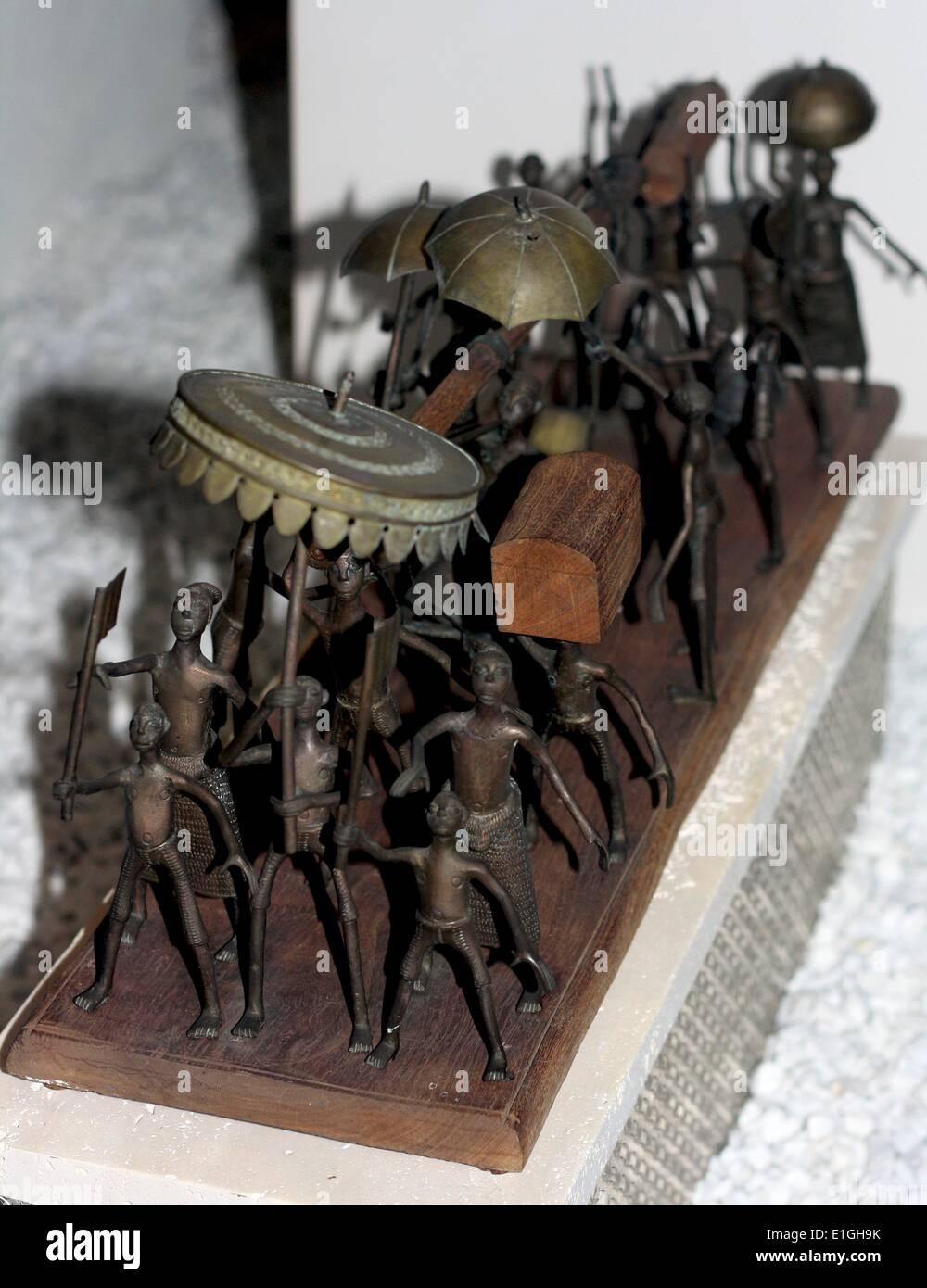 Modell für eine königliche Prozession, Benin, Westafrika, 20. Jahrhundert, Fon Menschen. Stockbild