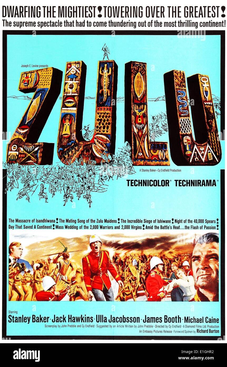 Zulu (1964) British historische Krieg Film unter der Regie von Cy Endfild. Stockbild