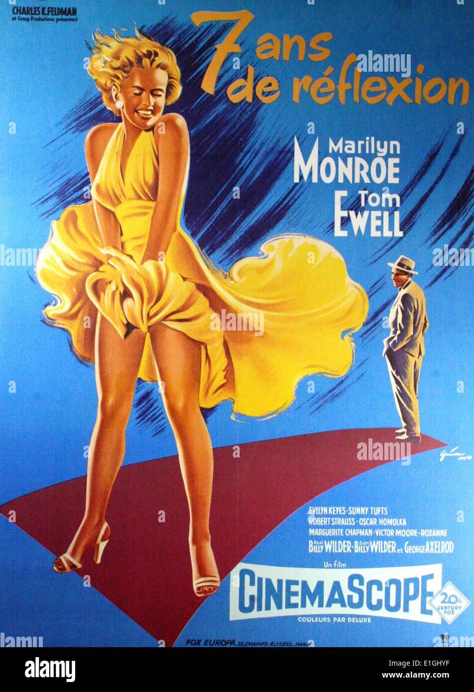"""""""Die Seven Year Itch"""" eine romantische Komödie 1955 Film mit Marilyn Monroe und Tom Ewell. Stockbild"""