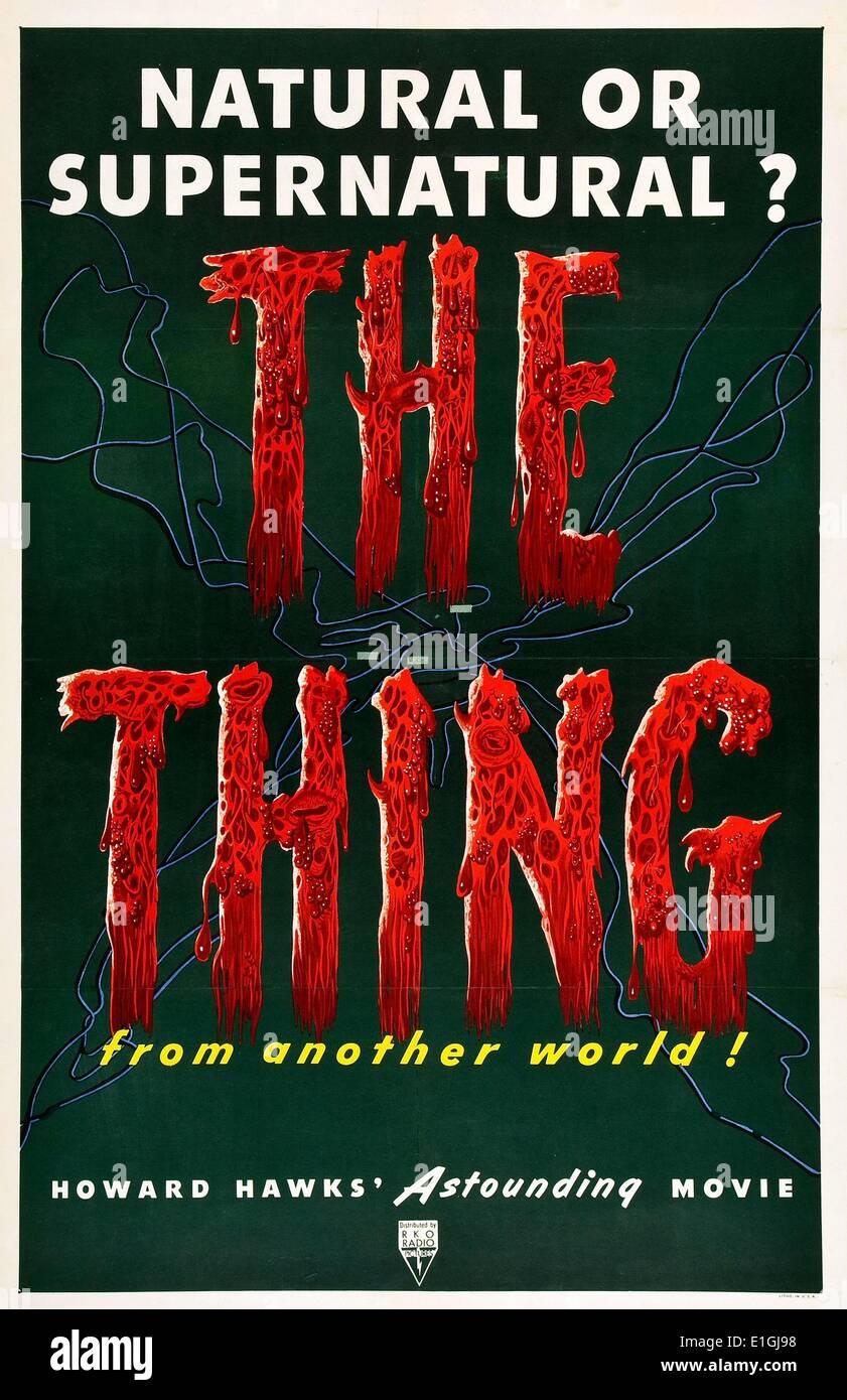 """""""Das Ding"""" eine 1982 amerikanische Science Fiction Horror film mit Kurt Russell. Stockbild"""