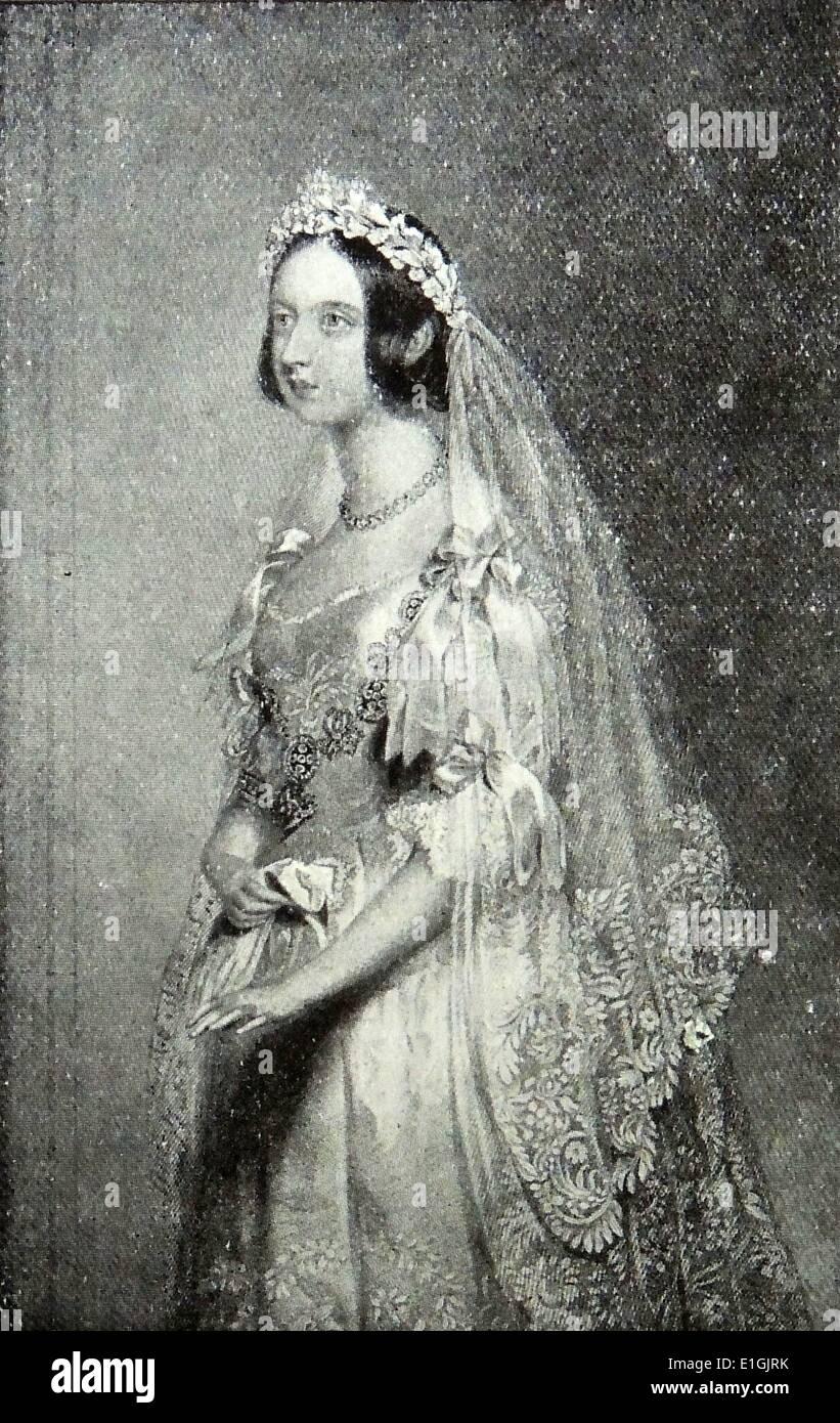 Königin Victoria (1819 ? 1901) Portrait von Königin Victoria in ihrem ersten Jahrzehnt als Königin von Großbritannien Stockbild