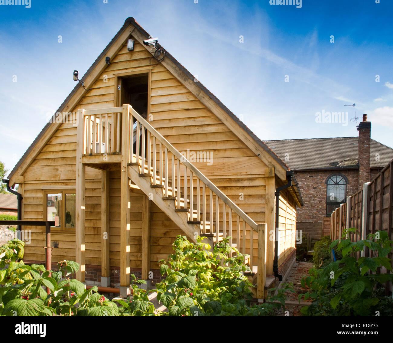 selbst bauen, Haus, grüne Eiche Garage, Treppe zum ersten Stock Loft ...