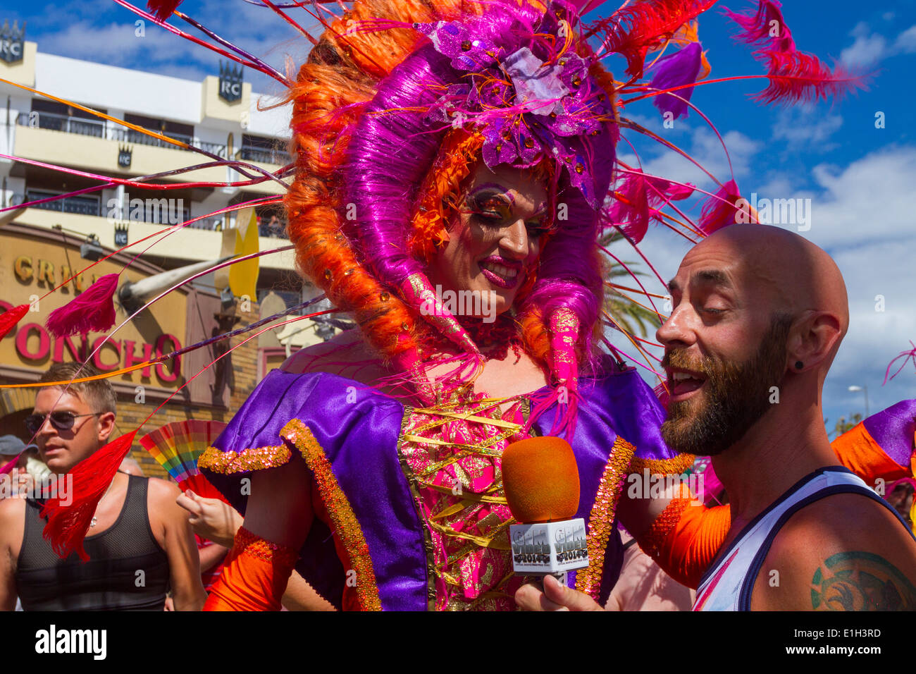 Gay Pride Parade Maspalomas 2014 Stockbild