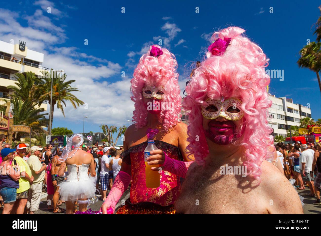 Gay Pride Parade Maspalomas 2014 Stockbild