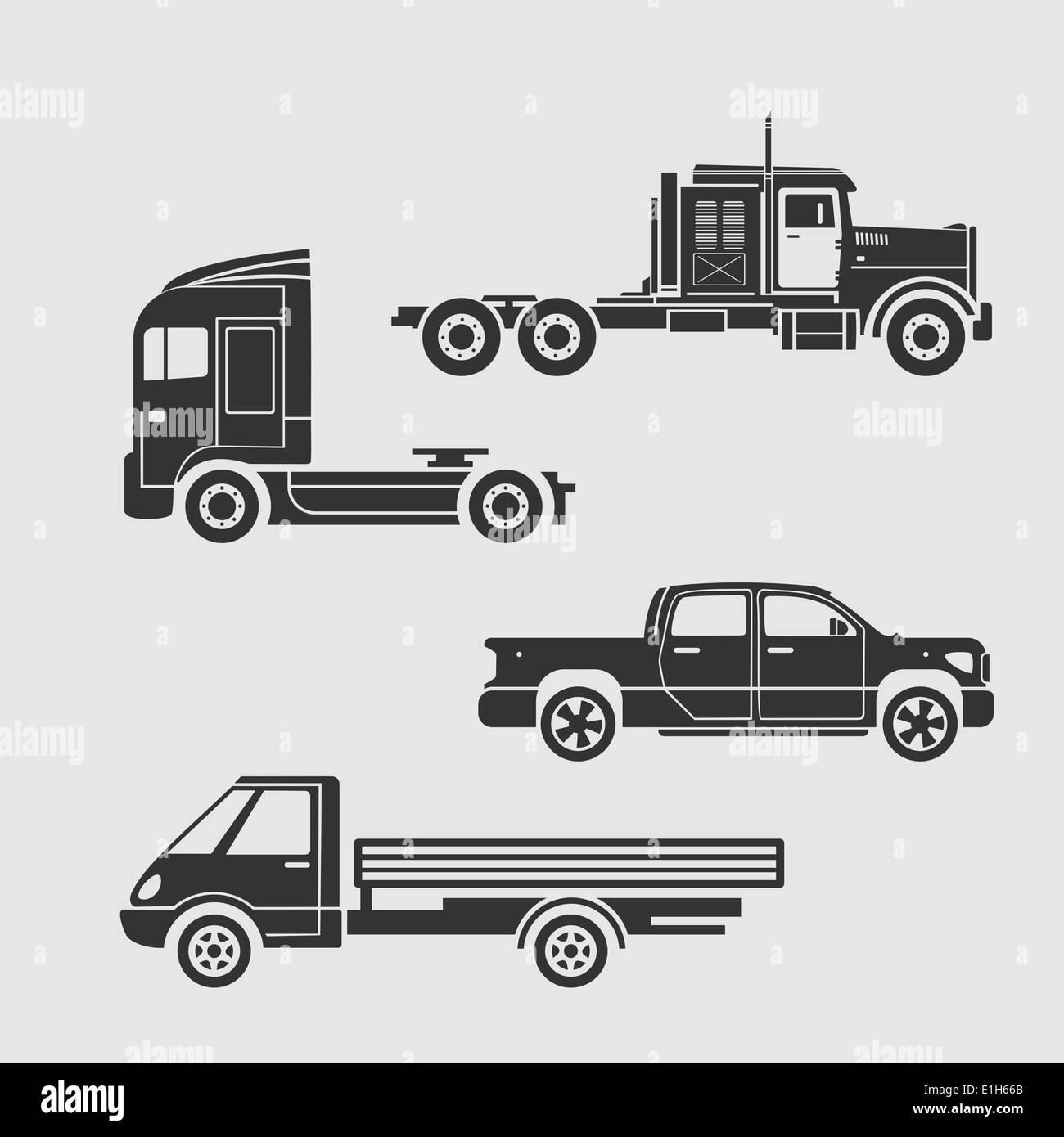 Truck Semi Trailer Vector Illustration Stockfotos & Truck Semi ...