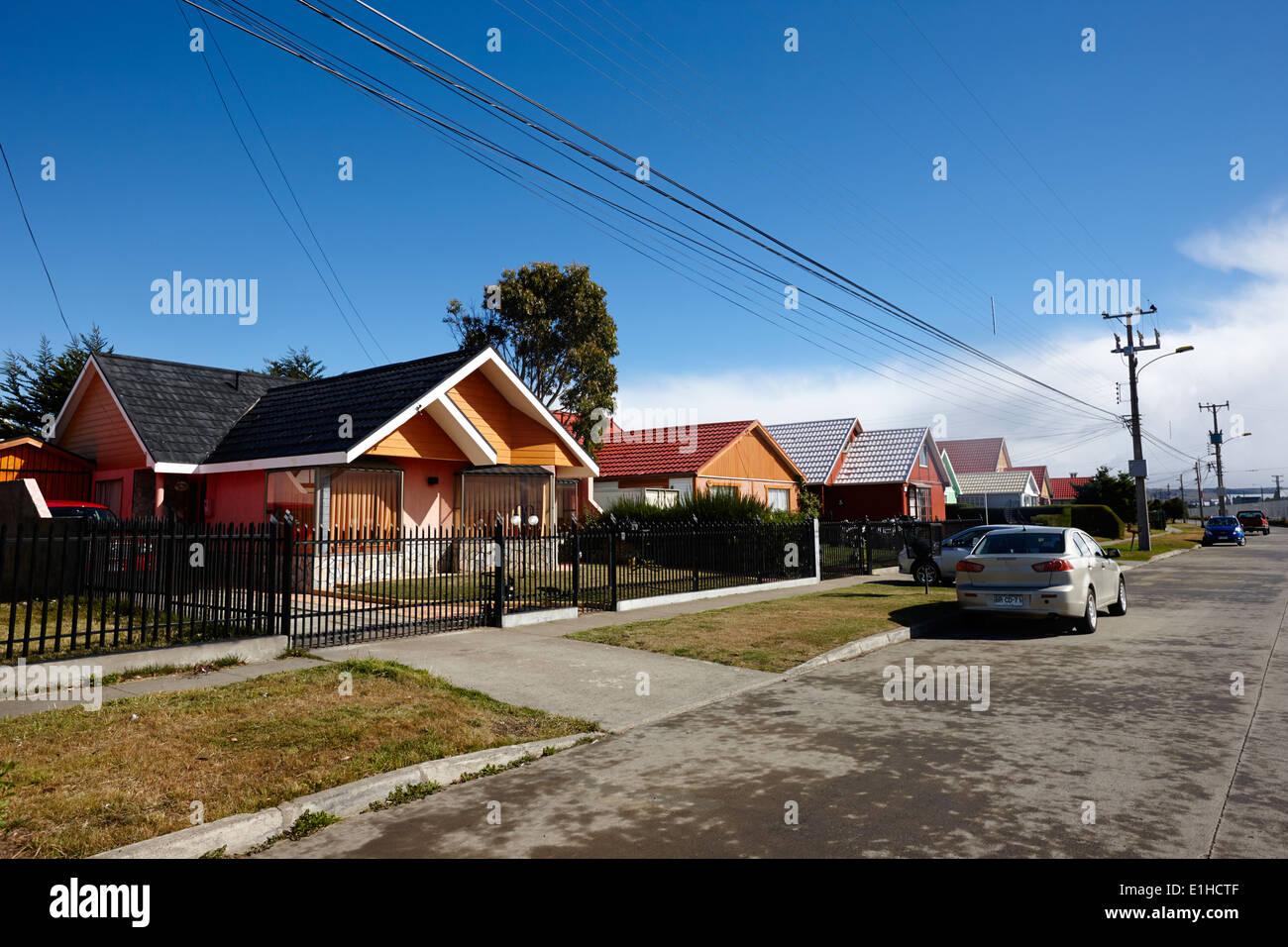 Rue des modernen typisch chilenischen Bau Haus mit ...