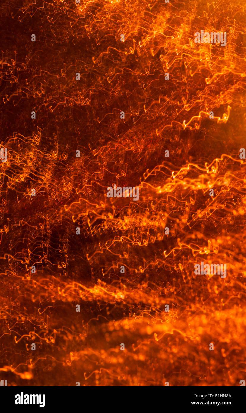 Goldgrund - zufällige Messing Streifen Stockbild