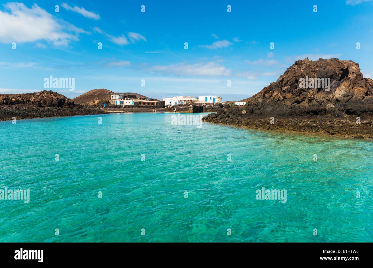 El Puertito, La Isla de Lobos, Fuerteventura, Kanarische Inseln, Spanien. Stockbild