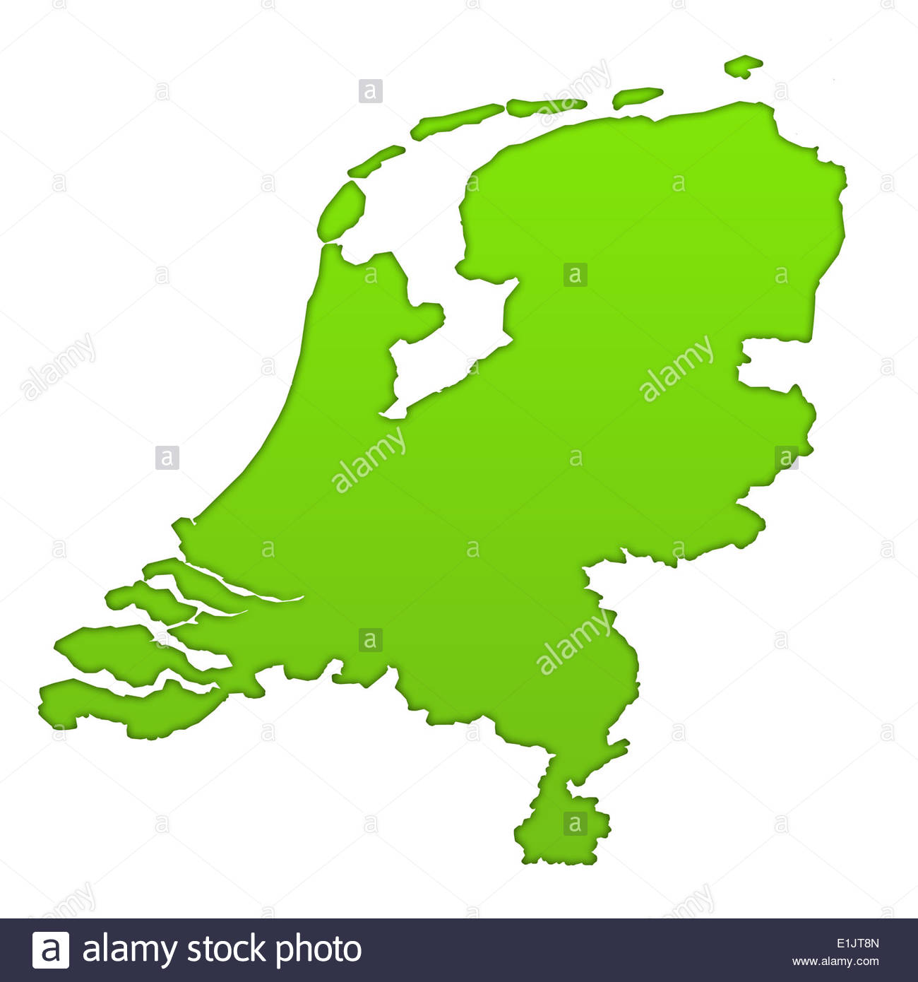 Holland Country Map Stockfotos & Holland Country Map Bilder ...