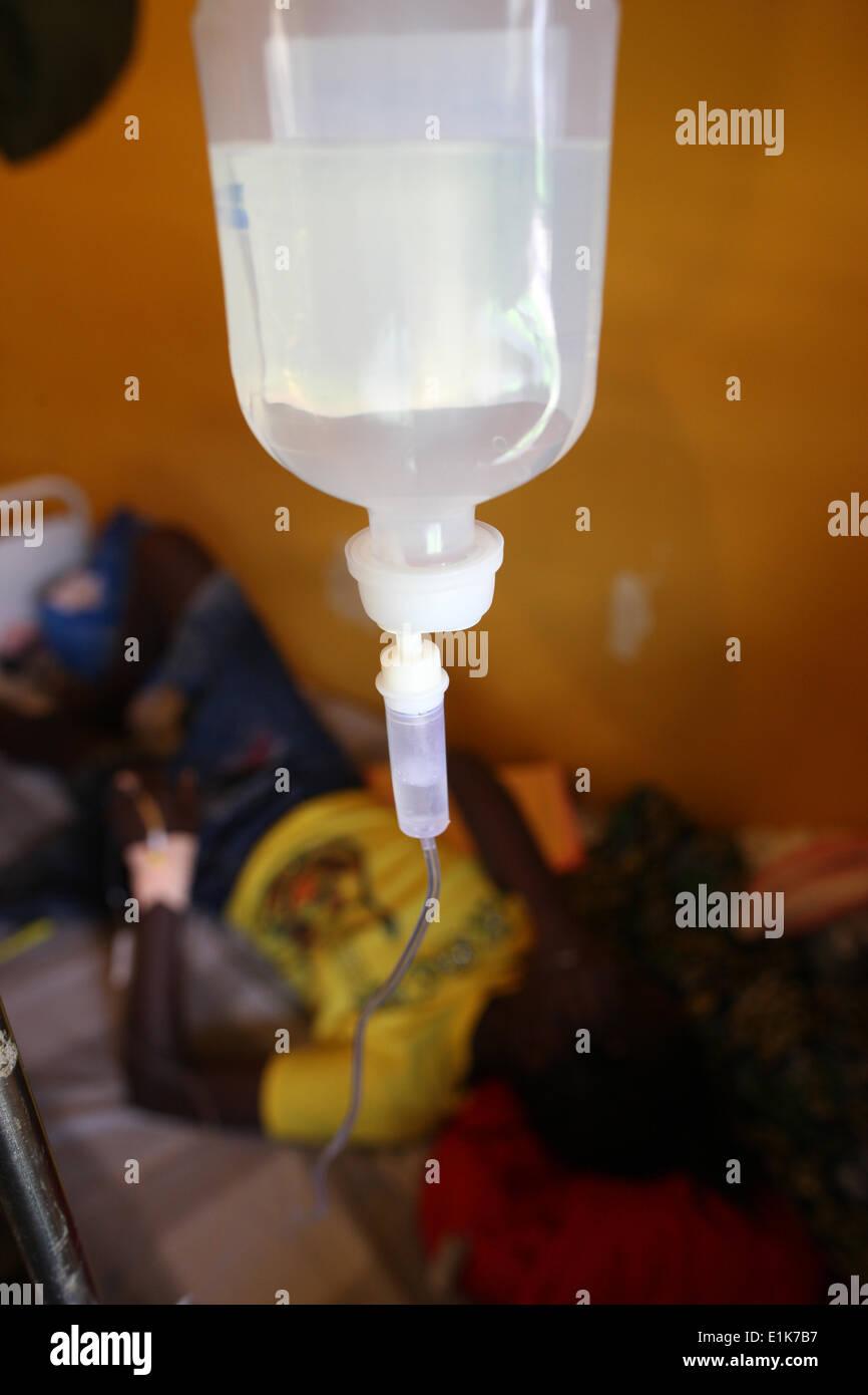 Brazzaville Krankenhaus Kinderstation Stockbild