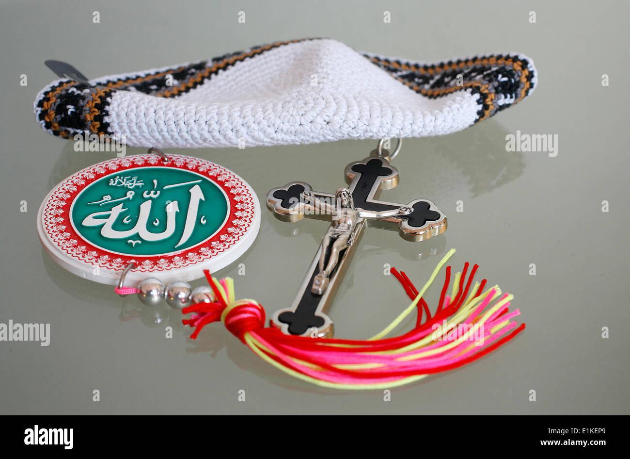 Symbole der monotheistischen Religionen Stockbild
