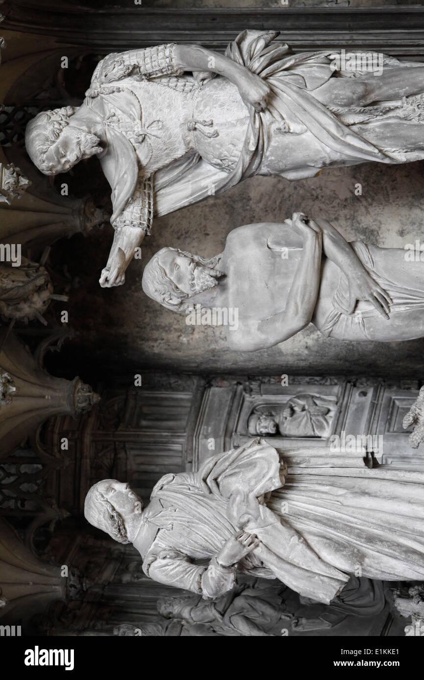 Notre Dame De Chartres Kathedrale Statuen Rund Um Den Chor