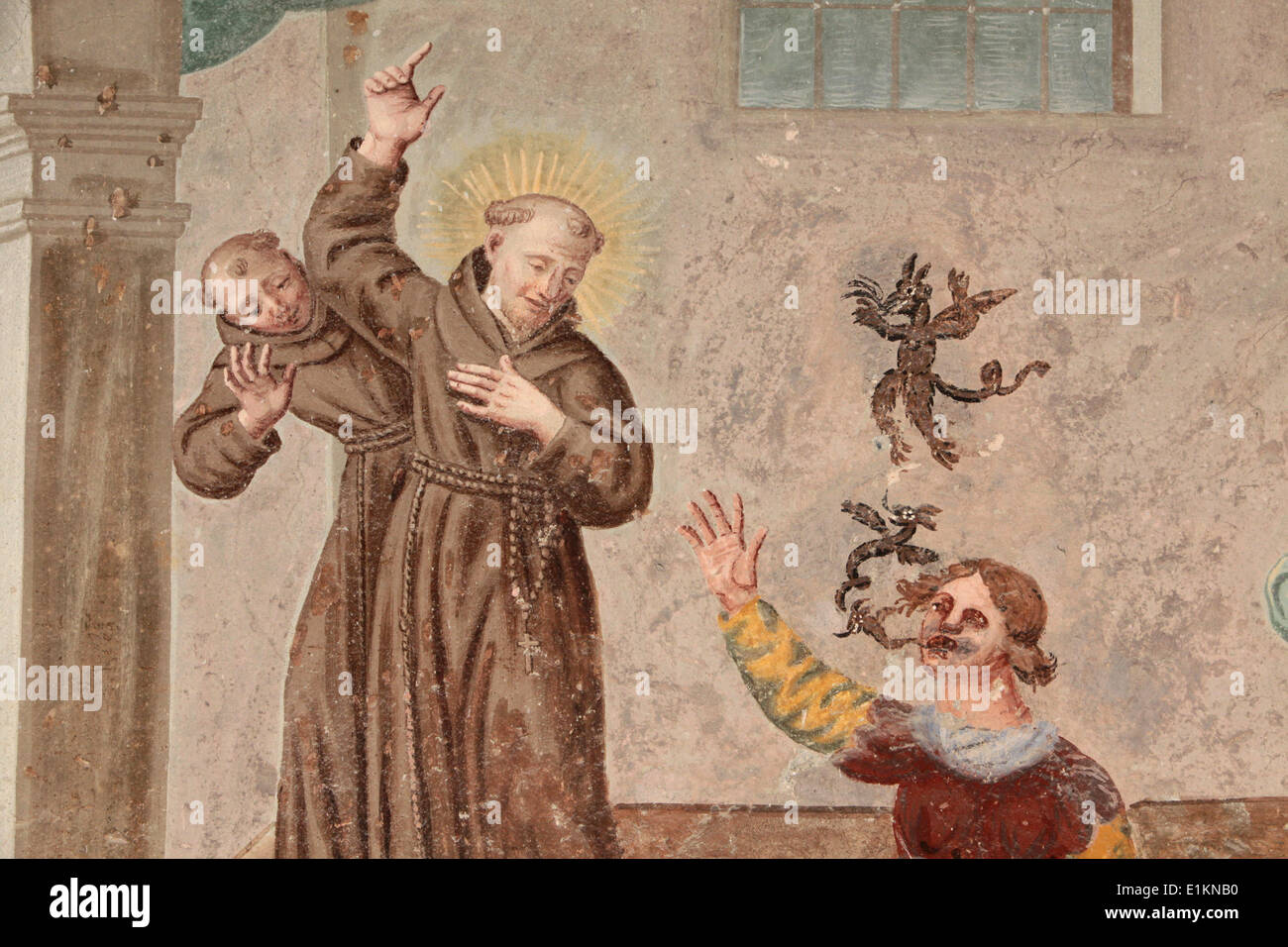 Francis Of Assisi Painting Stockfotos & Francis Of Assisi Painting ...