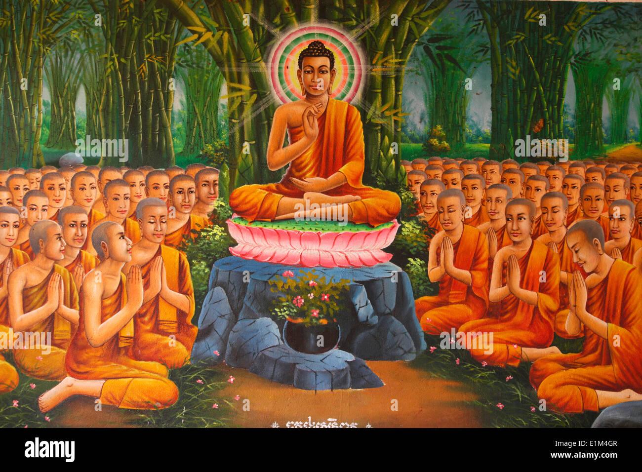 gem lde buddha die lehre zu m nche stockfoto bild 69898775 alamy. Black Bedroom Furniture Sets. Home Design Ideas