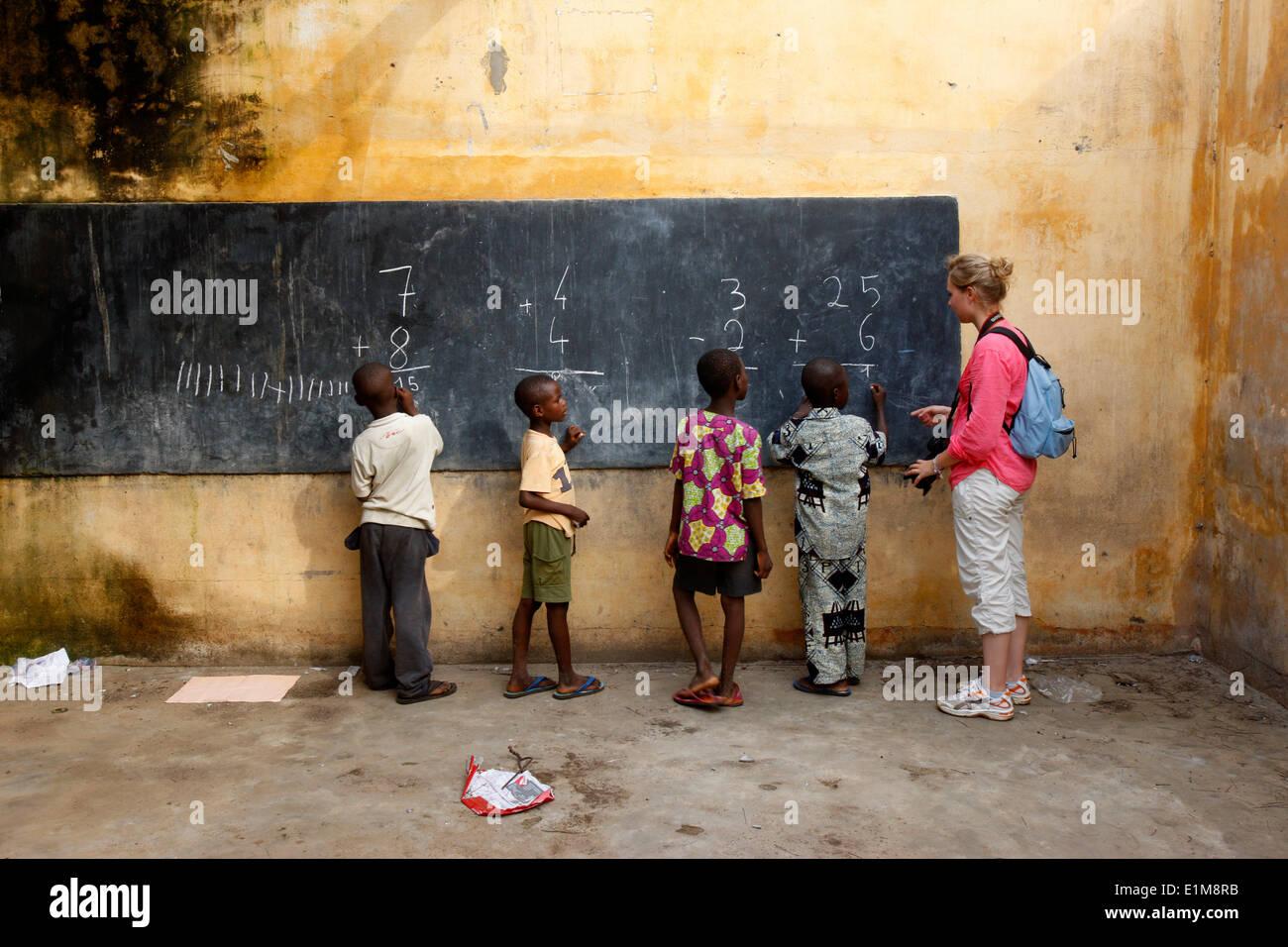 Schüler und sponsor Stockbild