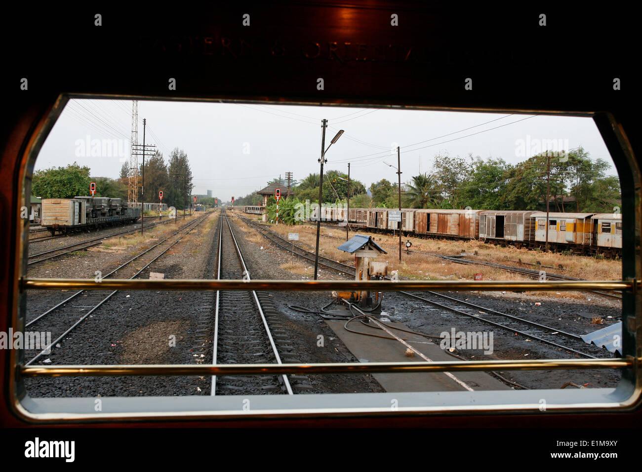Blick von der östlichen & Oriental Express Stockbild