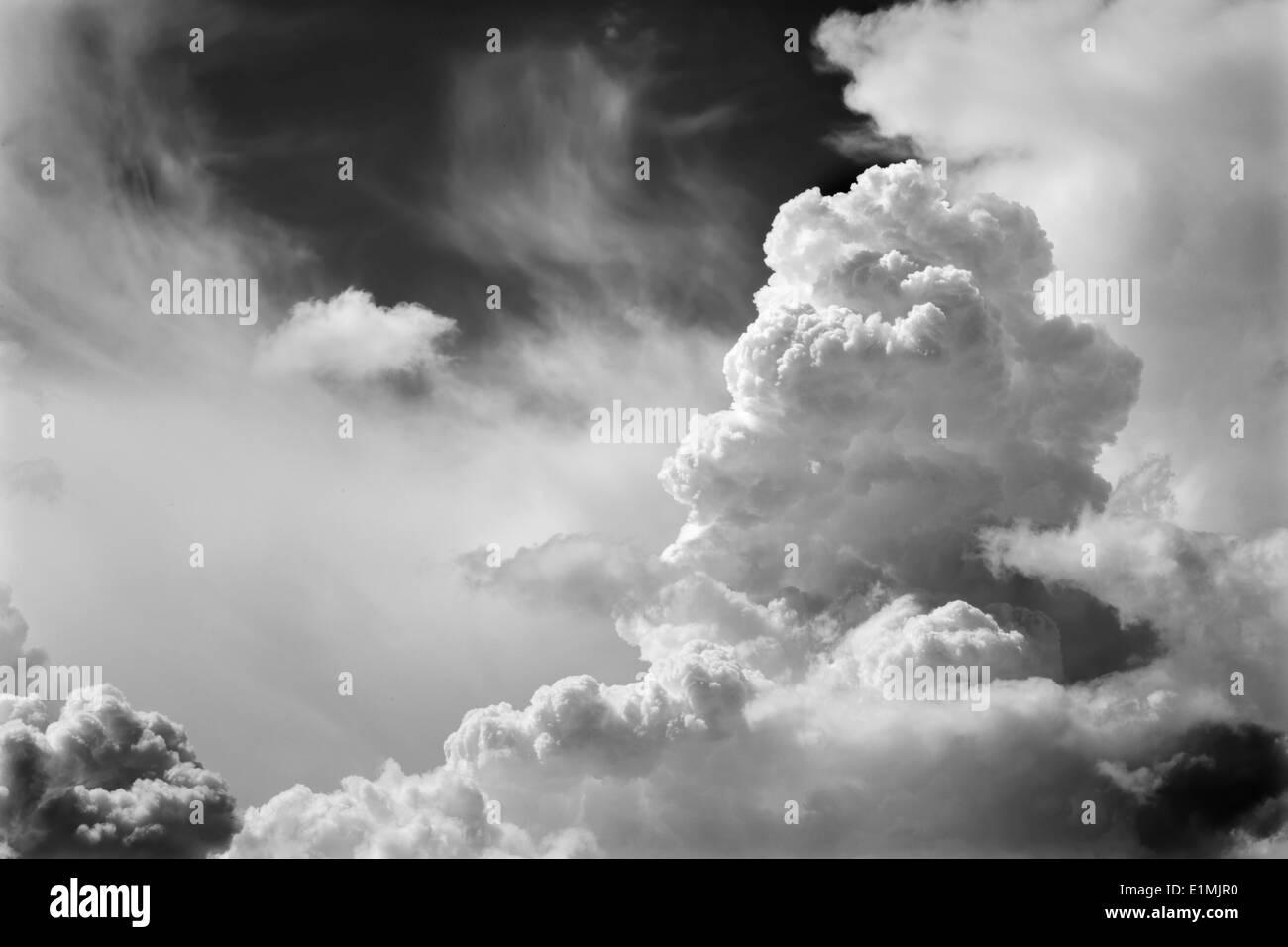 Wolkengebilde für den Sturm Stockbild