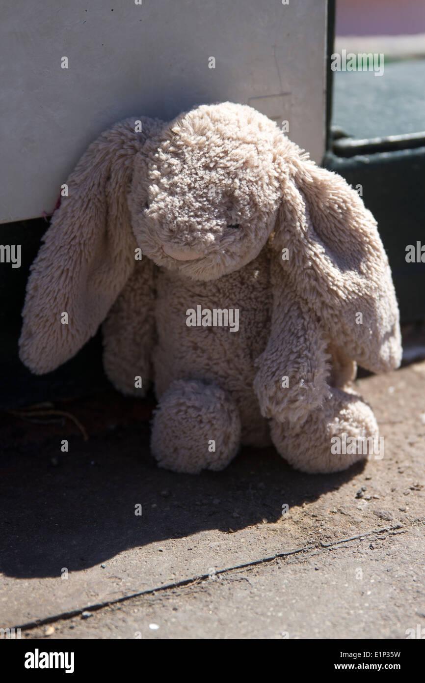 Verlorene Teddy Bear Stockbild