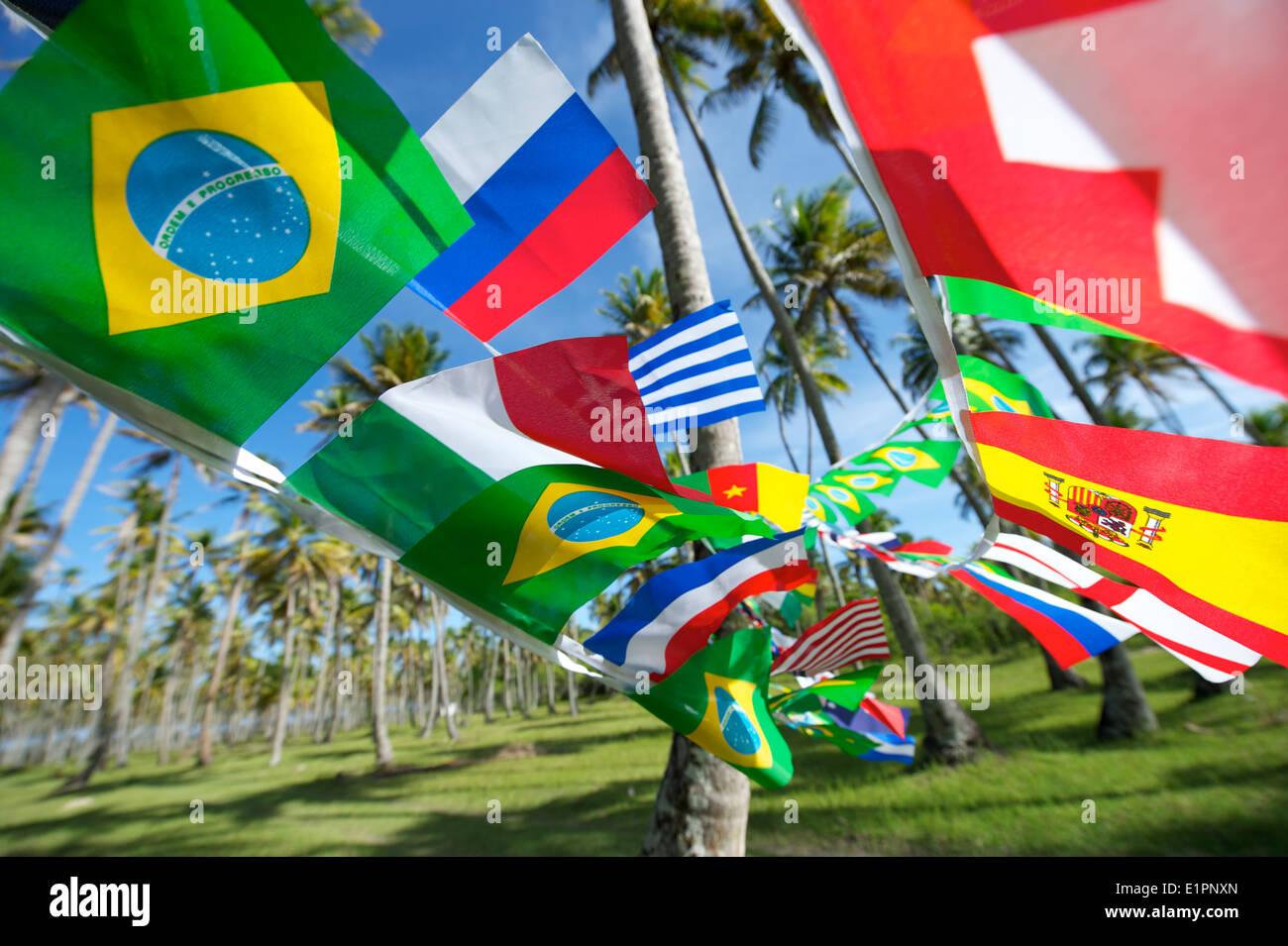 Brasilianische Dekoration brasilianische und internationale fahnen girlande dekoration weht in
