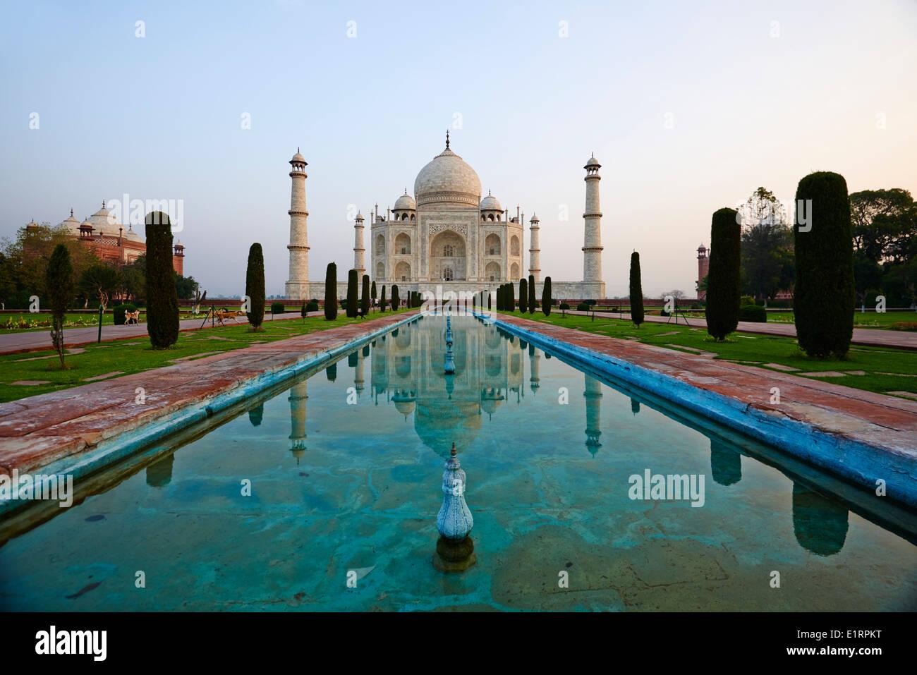 Indien, Bundesstaat Uttar Pradesh, Agra, Taj Mahal, UNESCO-Welterbe Stockbild