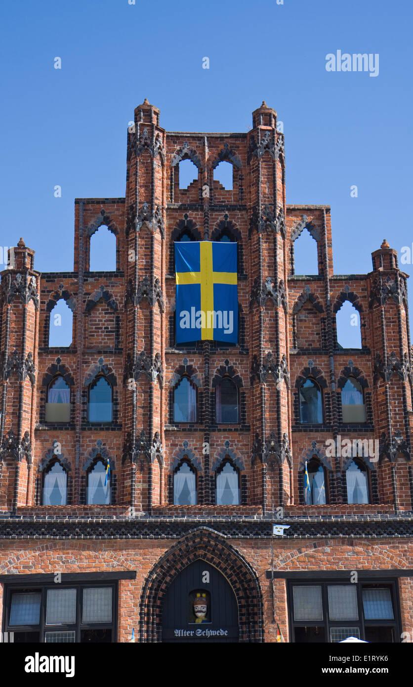 Europa, Deutschland, Mecklenburg-Vorpommern, Wismar, Alter Schwede, Alter Schwede Stockbild