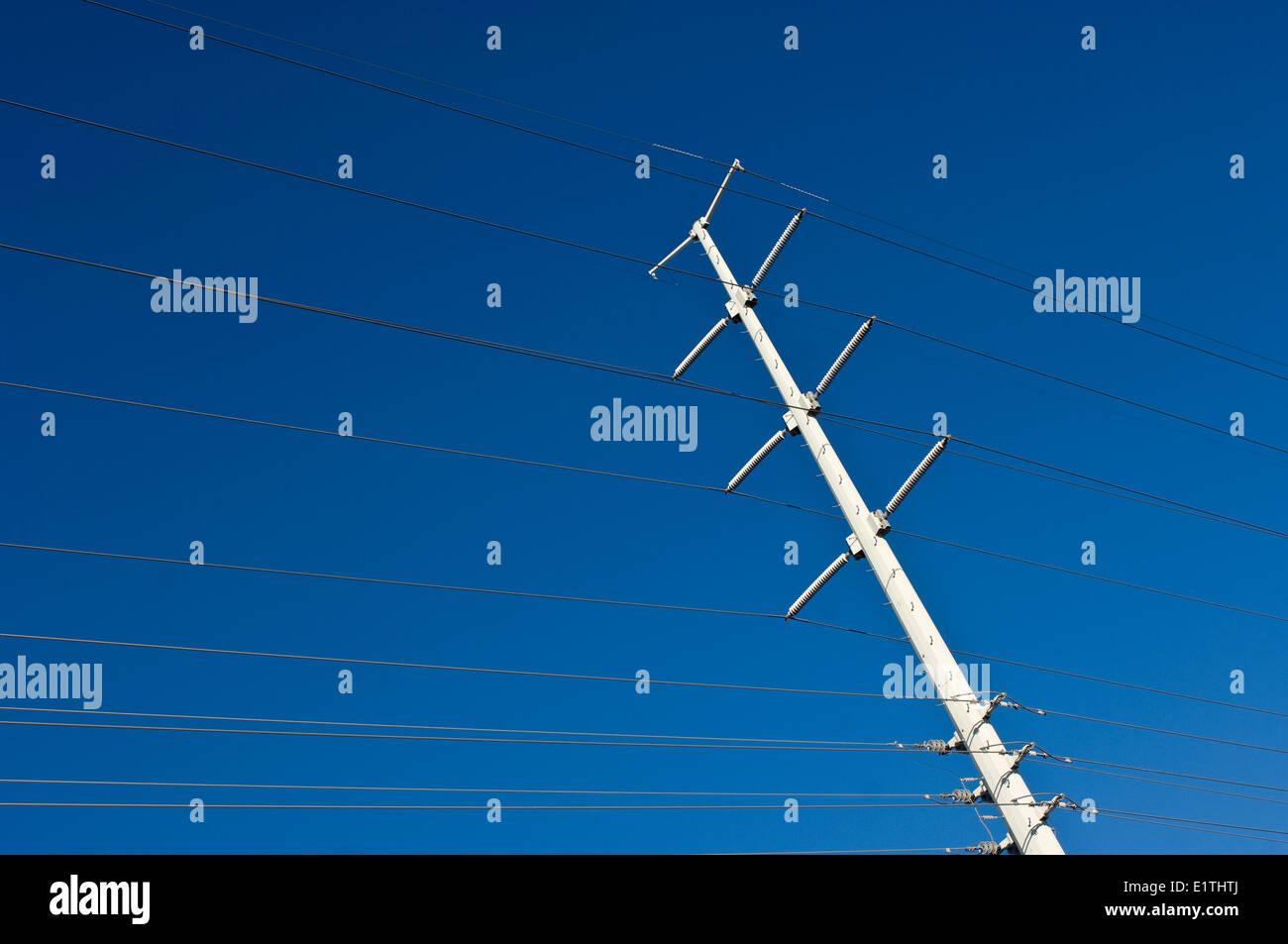 Elektrische Energie Übertragung Linien, Nevada, USA Stockbild