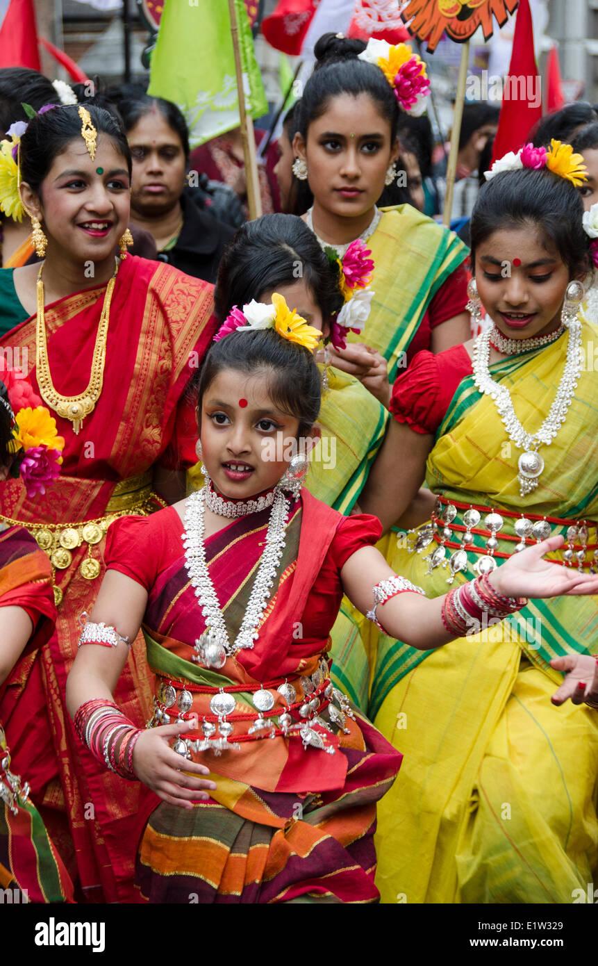 Kulturfestival, Boishakhi Mela, Südasiatische Gemeinschaft, East London, England Stockfoto