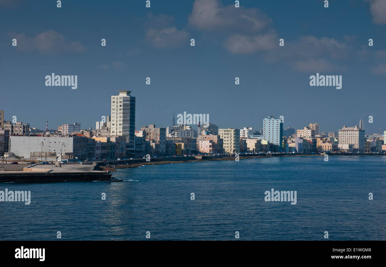 Waterfront, dem Malecón in Havanna, Kuba Stockbild