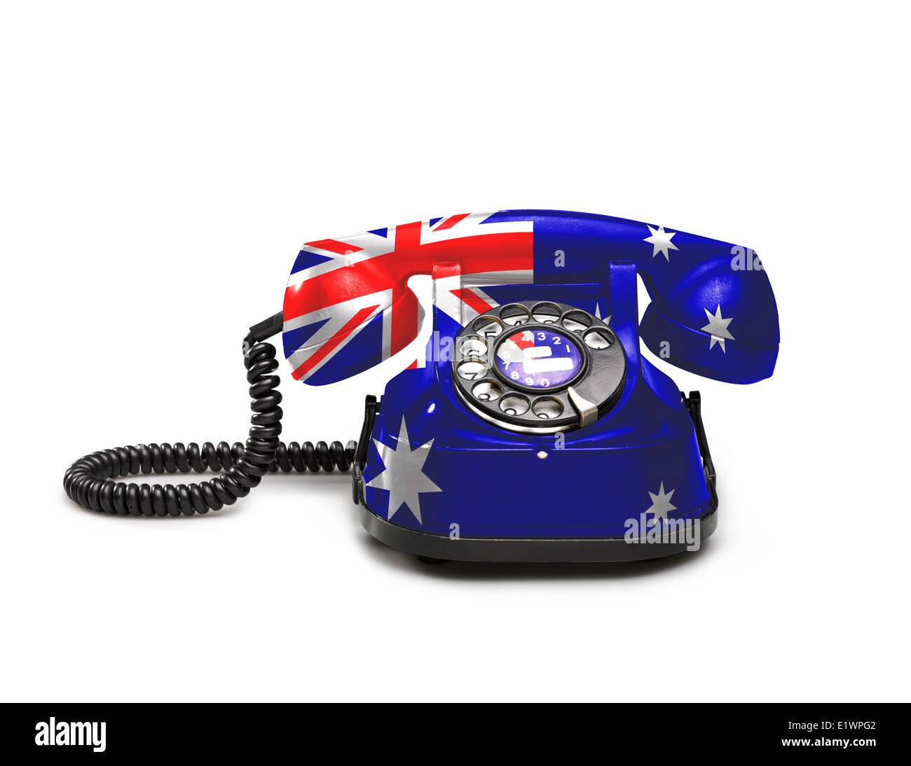 Australia Flag On Old Background Stockfotos & Australia Flag On Old ...