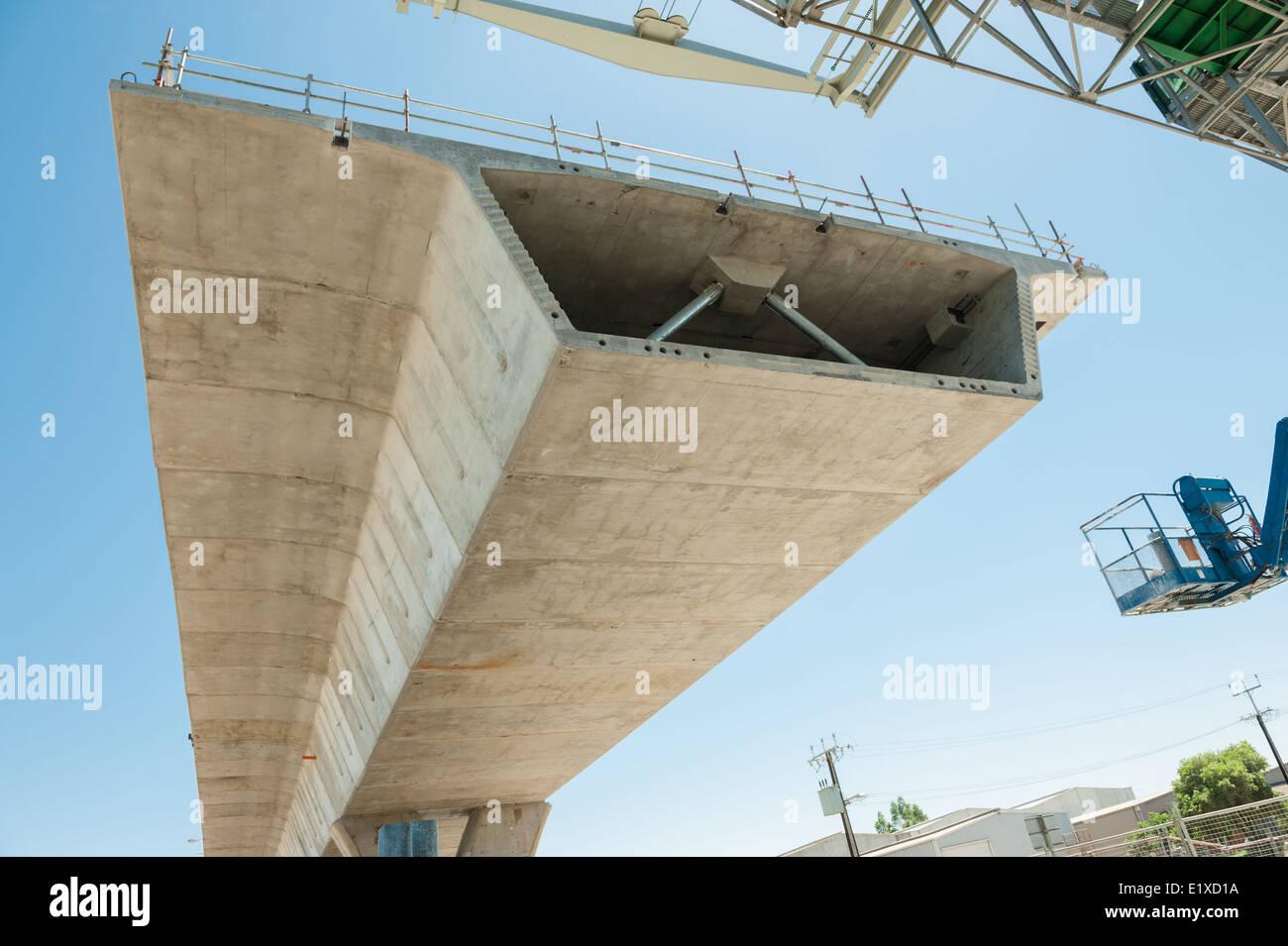 Fragment-Sicht auf die Straße im Umbau Stockbild