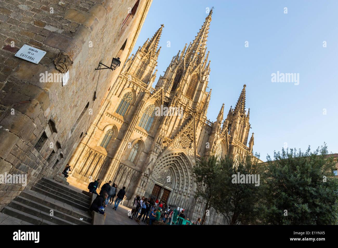 Kathedrale von Santa Eulalia in Barcelona Stockbild