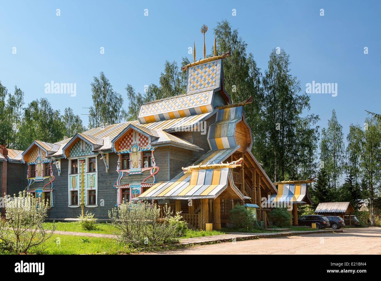 russland traditionelles haus in mandrogy dorf stockfoto bild 70101952 alamy. Black Bedroom Furniture Sets. Home Design Ideas