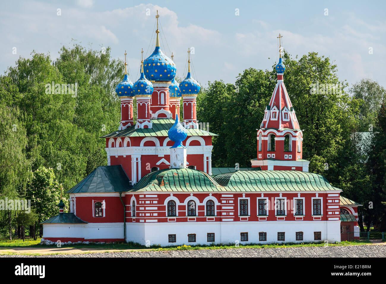 Russland, Uglitsch, Kirche des Demetrius auf das Blut Stockbild