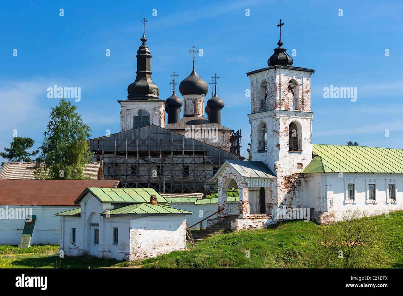Das Gorizkij-Kloster der Auferstehung Wolga-Baltikum Stockbild
