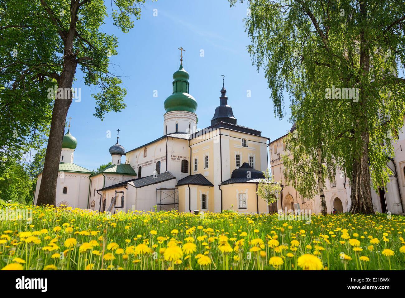 Volga Kirillo-Beloserski Kloster in Russland Stockbild