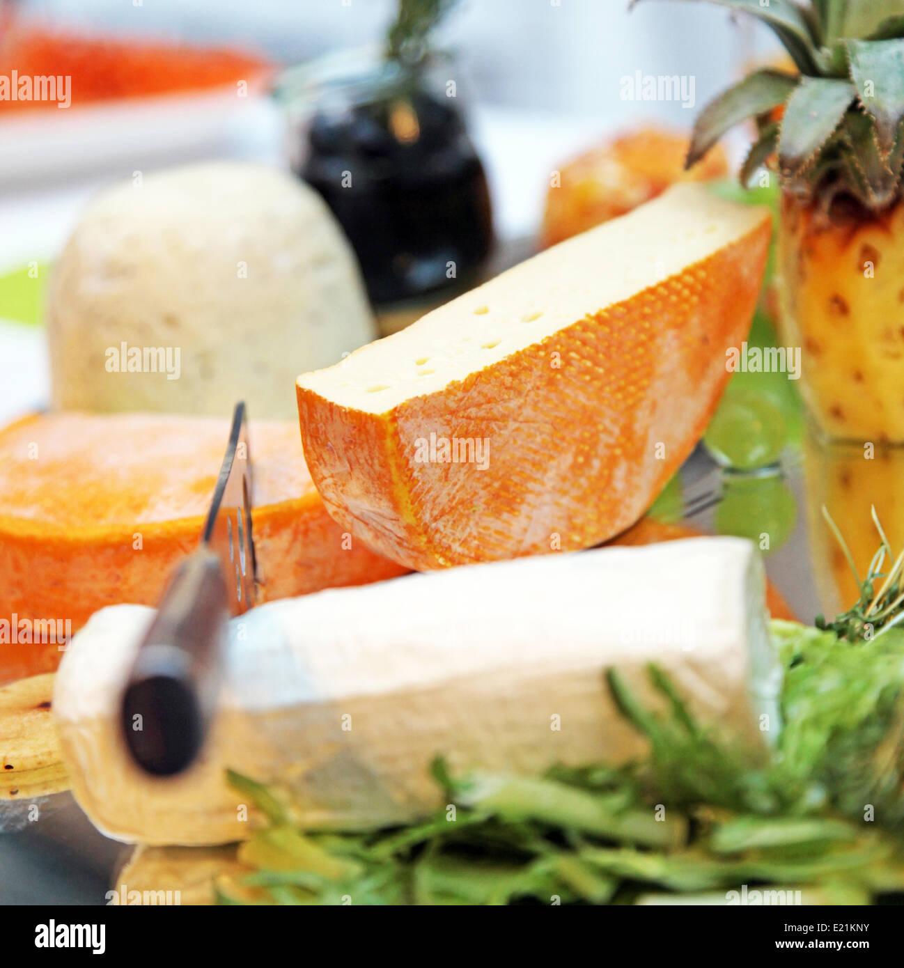 -Gegenspieler Käse - Nahaufnahme Stockbild