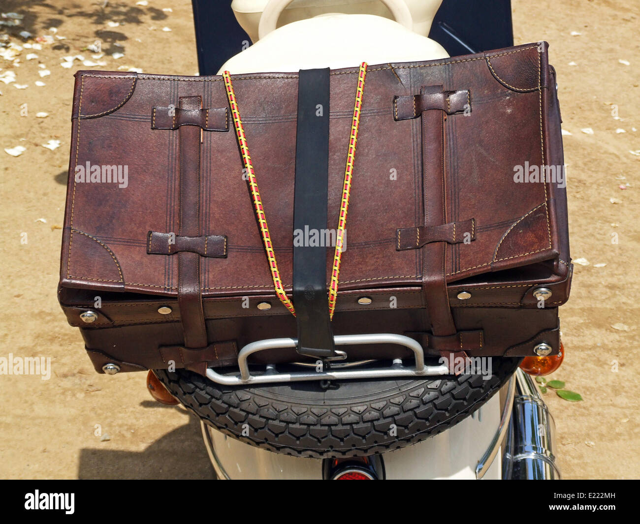 Leder-Koffer Stockbild
