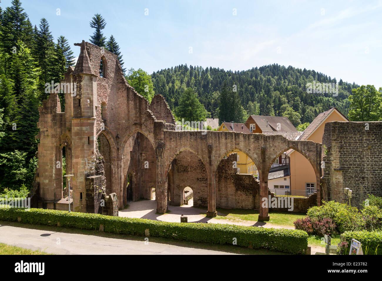 kloster ruinen von all saints schwarzwald baden w rttemberg deutschland europa stockfoto. Black Bedroom Furniture Sets. Home Design Ideas