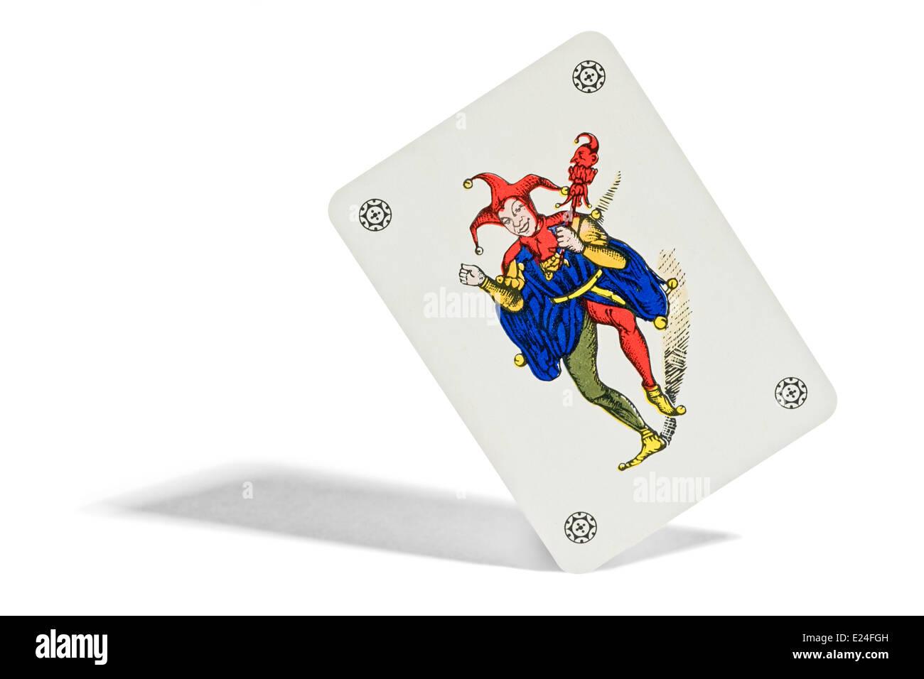 Joker Spielkarte Stockbild