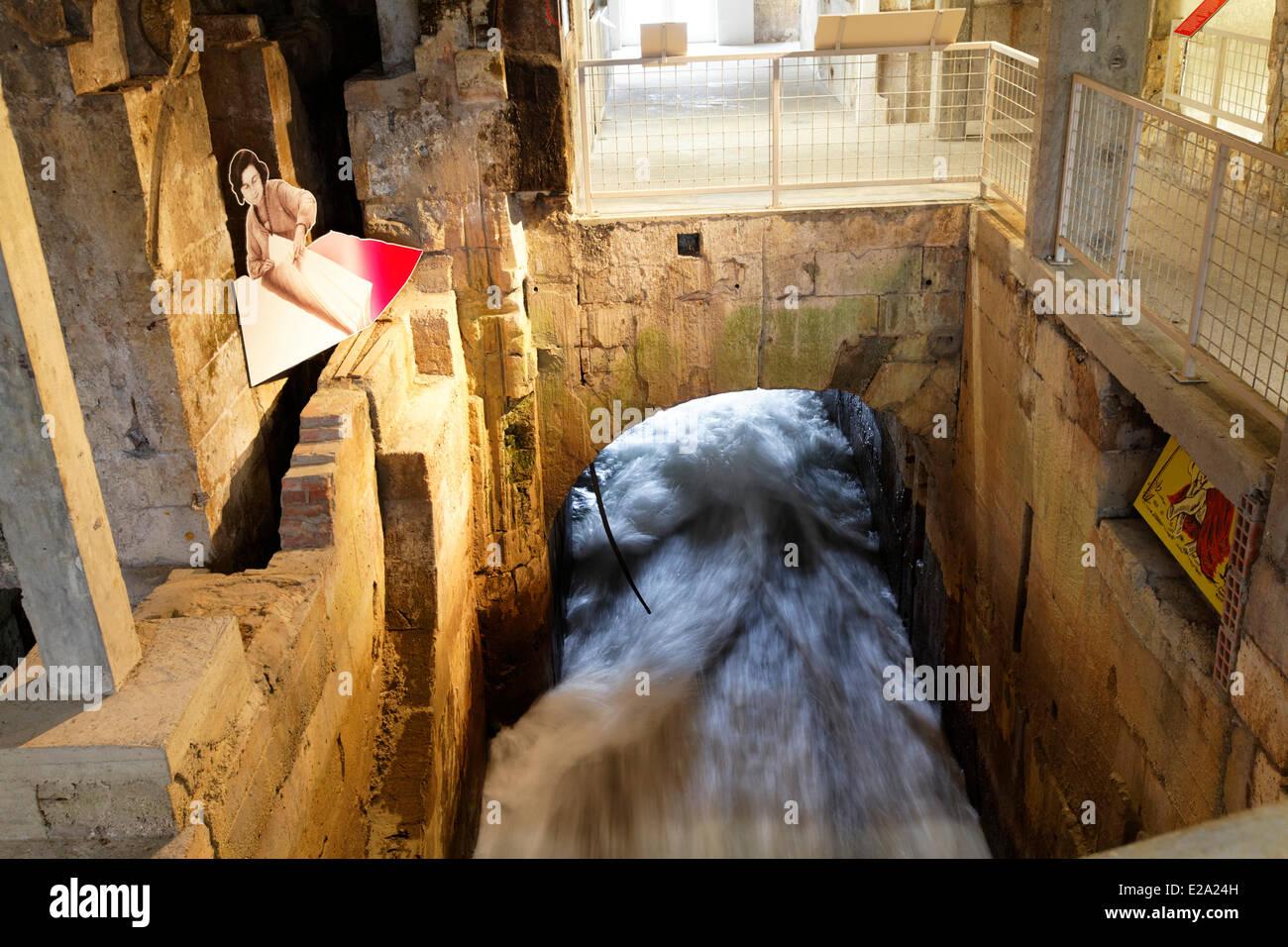 Frankreich, Charente, Angouleme, Musee du Papier (Papiermuseum) Stockbild
