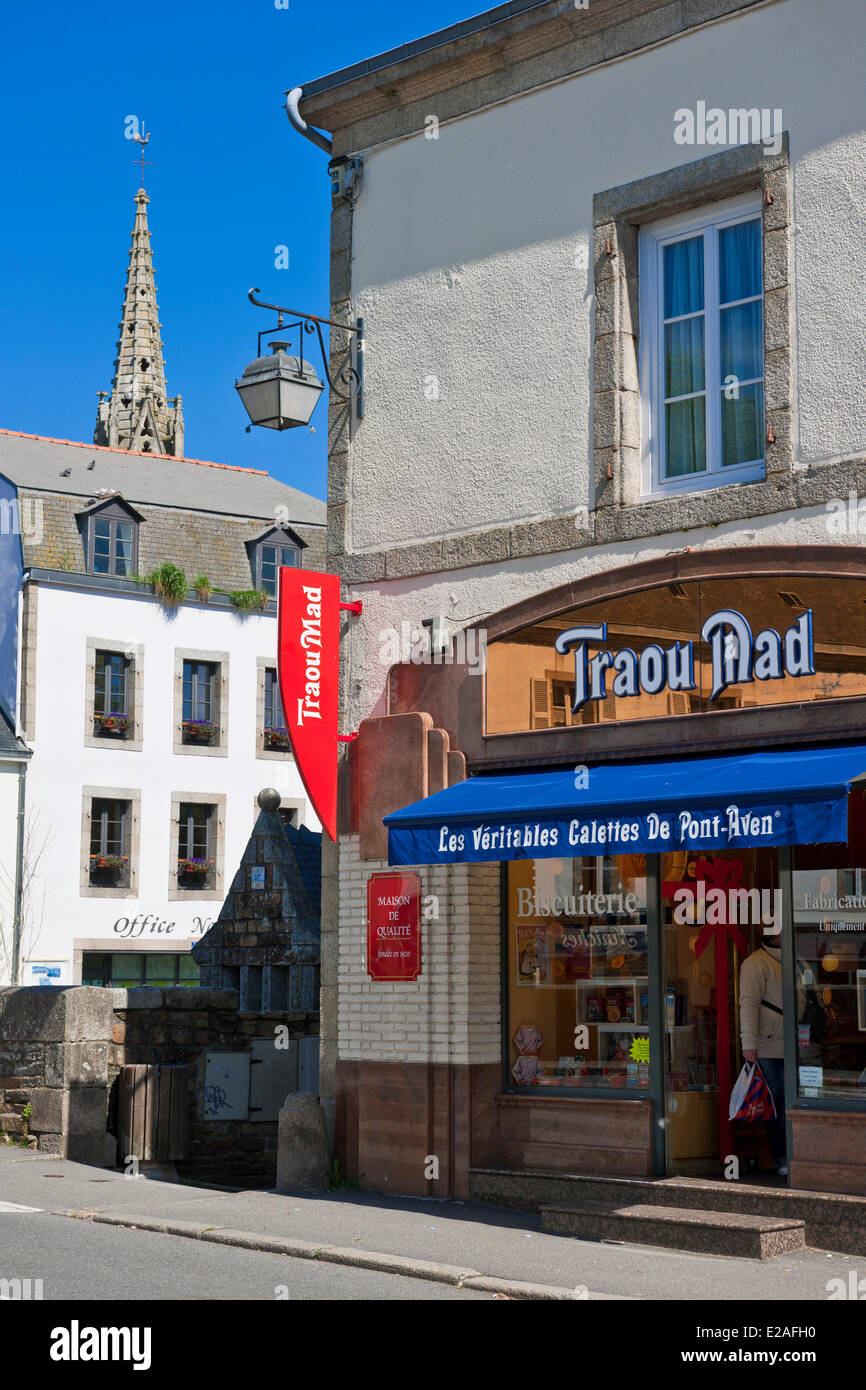Frankreich, Finistere, Pont-Aven, Cookies Spezialitäten Stockbild
