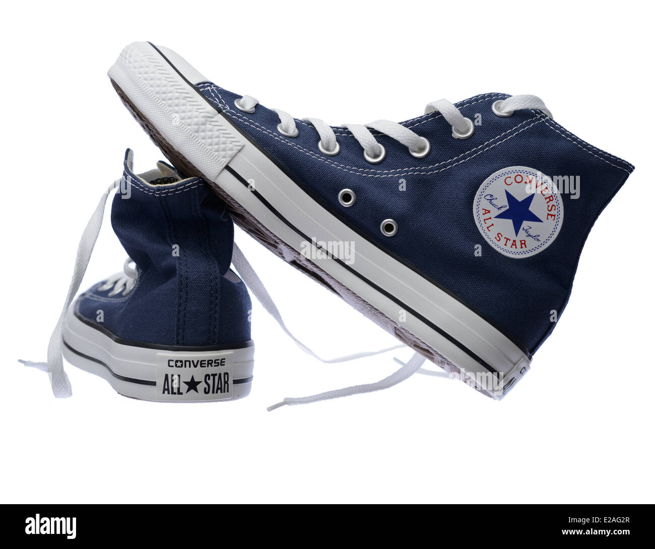 save off 501c8 2d31b Blaue Converse Chuck Taylor All Star Schuh paar Stockfoto ...