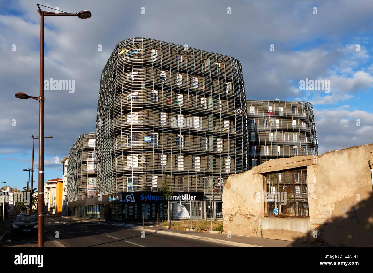 Frankreich, Herault, Sete, zeitgenössische Architektur Architekten Ulrich Faudry William Choplain, J Von Spoeneck Stockbild